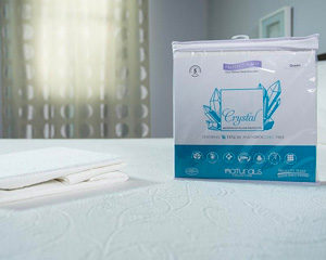 cooling crystal mattress pad protector