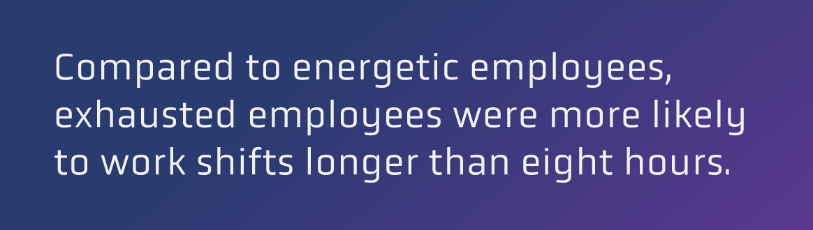 exhausted employees stat