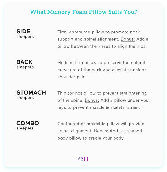 best memory foam pillow for side sleepers