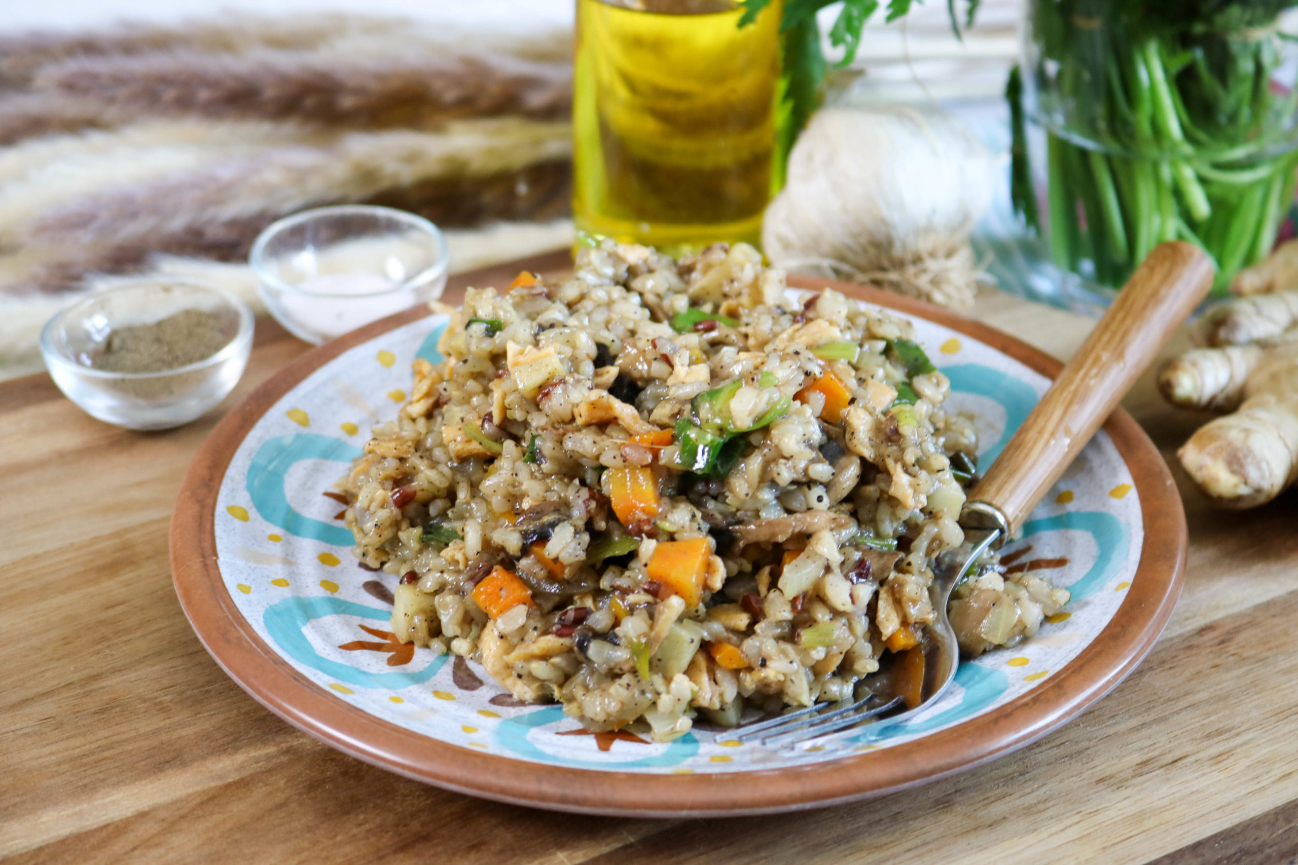 Black Pepper Fried Brown Rice