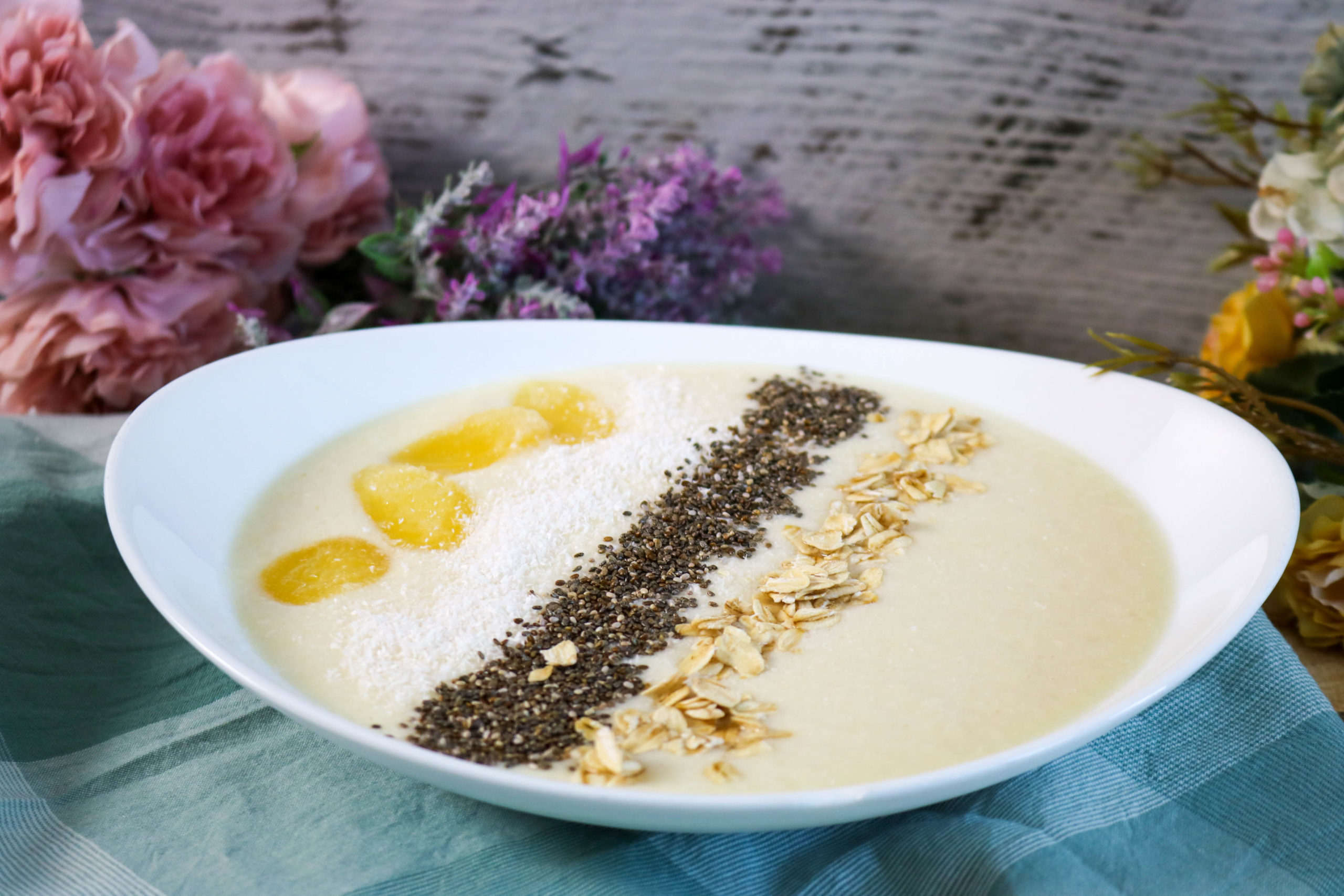 Coconut Pineapple Smoothie Bowl With Granola