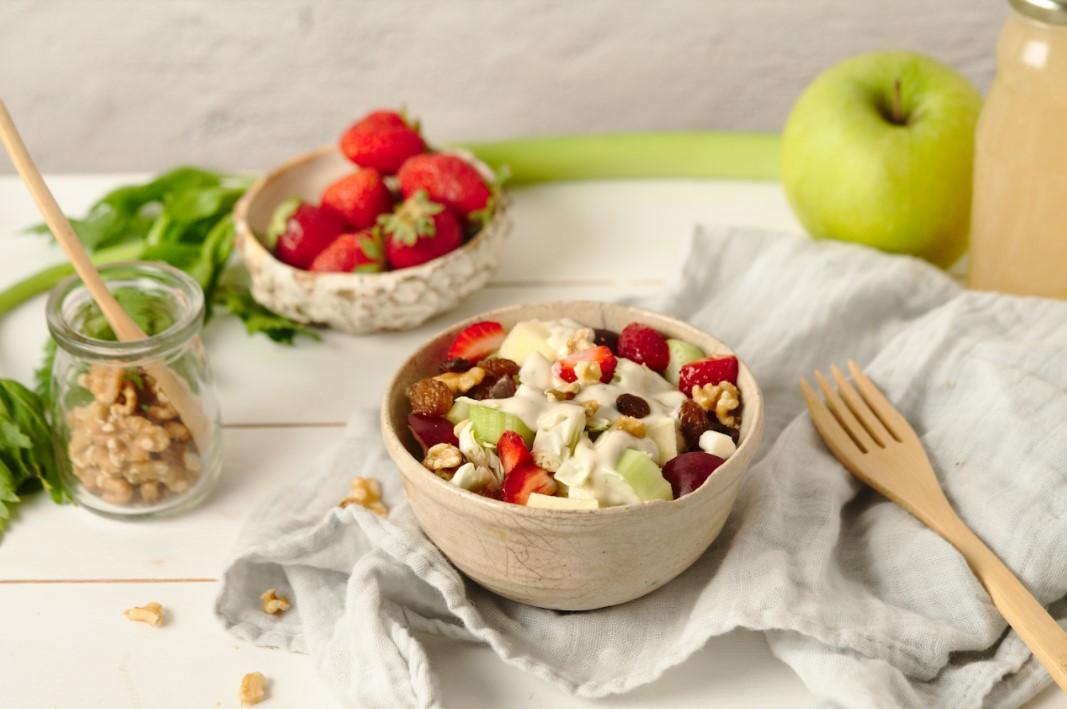 Healthy Strawberry Waldorf Salad