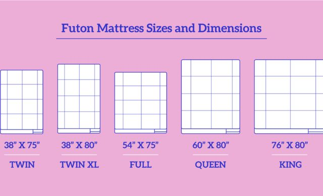 Futon-Mattress-Sizes-and-Dimensions